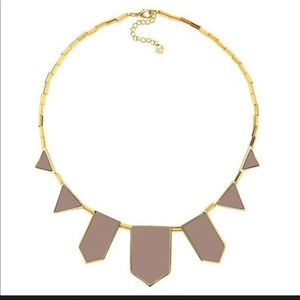 House of Harlow leather nude and gold necklace